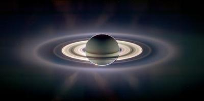 Saturn Backlit by the Sun