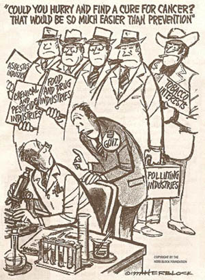 1977 Political Interference Cartoon