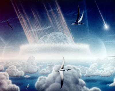 Artist's Impression of the Chicxulub Impact